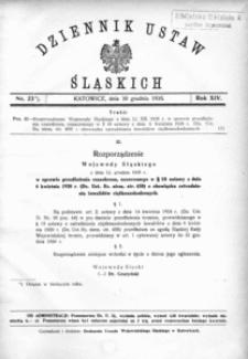 Dziennik Ustaw Śląskich, 30.12.1935, R. 14, nr 23