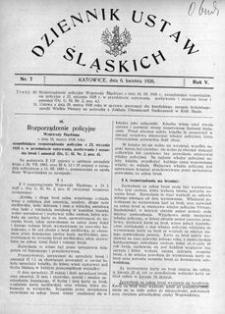 Dziennik Ustaw Śląskich, 06.04.1926, R. 5, nr 7