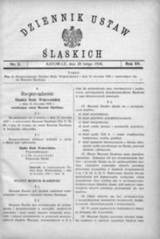 Dziennik Ustaw Śląskich, 20.02.1936, R. 15, nr 2