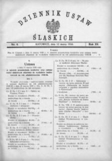 Dziennik Ustaw Śląskich, 12.03.1936, R. 15, nr 4