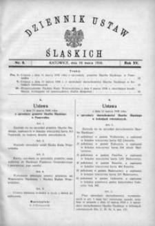 Dziennik Ustaw Śląskich, 16.03.1936, R. 15, nr 6