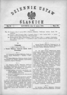 Dziennik Ustaw Śląskich, 31.03.1936, R. 15, nr 8