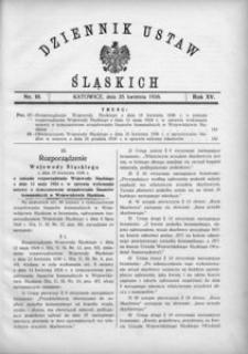 Dziennik Ustaw Śląskich, 25.04.1936, R. 15, nr 10
