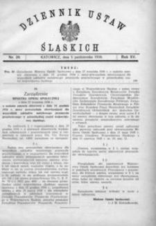 Dziennik Ustaw Śląskich, 05.10.1936, R. 15, nr 20