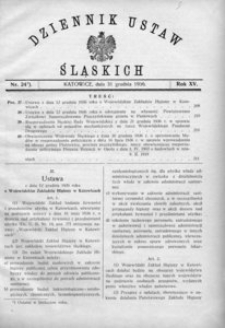 Dziennik Ustaw Śląskich, 31.12.1936, R. 15, nr 24