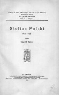 Stolice Polski 963-1138