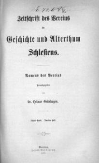 Zeitschrift des Vereins für Geschichte und Alterthum Schlesiens, 1868, Bd. 8, H. 2