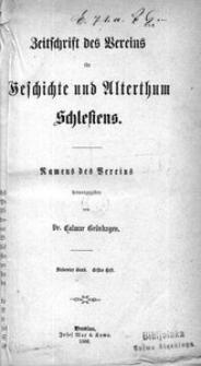 Zeitschrift des Vereins für Geschichte und Alterthum Schlesiens 1866, Bd. 7, H. 1