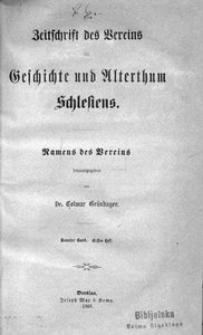 Zeitschrift des Vereins für Geschichte und Alterthum Schlesiens, 1868, Bd. 9, H. 1