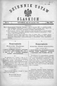 Dziennik Ustaw Śląskich, 25.01.1937, R. 16, nr 2