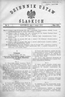 Dziennik Ustaw Śląskich, 01.02.1937, R. 16, nr 3