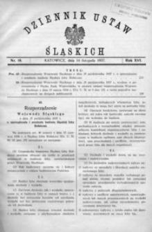 Dziennik Ustaw Śląskich, 10.11.1937, R. 16, nr 19