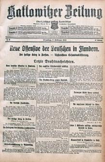 Kattowitzer Zeitung, 1915, Jg. 47, nr38
