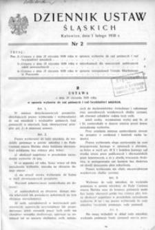 Dziennik Ustaw Śląskich, 01.02.1938, [R. 17], nr 2