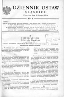 Dziennik Ustaw Śląskich, 28.02.1938, [R. 17], nr 3