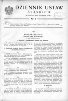 Dziennik Ustaw Śląskich, 22.03.1938, [R. 17], nr 5