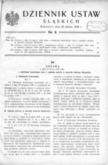Dziennik Ustaw Śląskich, 24.03.1938, [R. 17], nr 6