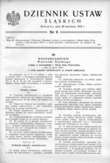 Dziennik Ustaw Śląskich, 20.04.1938, [R. 17], nr 9