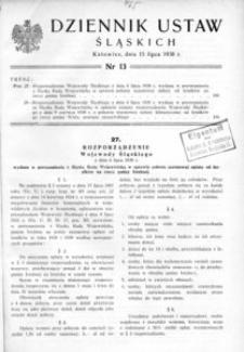 Dziennik Ustaw Śląskich, 15.07.1938, [R. 17], nr 13