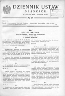 Dziennik Ustaw Śląskich, 01.08.1938, [R. 17], nr 14