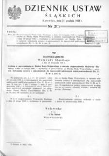 Dziennik Ustaw Śląskich, 31.12.1938, [R. 17], nr 21