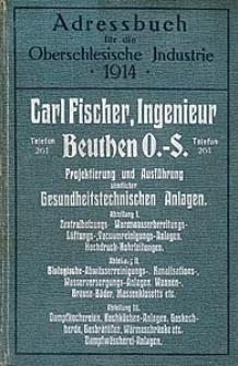 Adressbuch für die Oberschlesische Industrie 1914