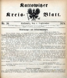 Kattowitzer Kreisblatt, 1874, nr36