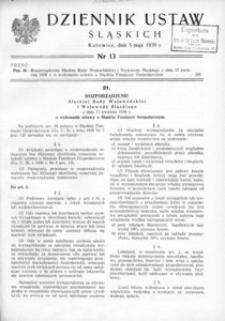 Dziennik Ustaw Śląskich, 05.05.1939, [R. 18], nr 13