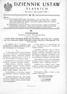 Dziennik Ustaw Śląskich, 03.06.1939, [R. 18], nr 15