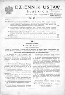 Dziennik Ustaw Śląskich, 01.08.1939, [R. 18], nr 24