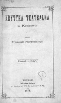 Krytyka teatralna w Krakowie