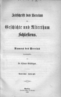 Zeitschrift des Vereins für Geschichte und Alterthum Schlesiens, 1869, Bd. 9, H. 2