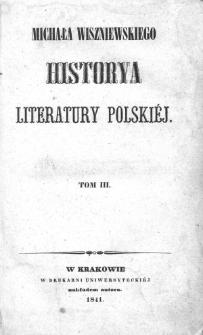 Historya literatury polskiej. T.3