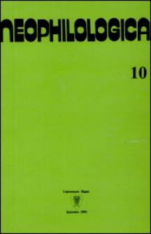 Neophilologica. Tom. 10: Studia językoznawcze