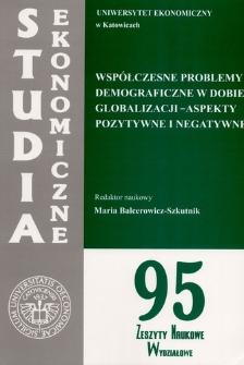 Współczesne problemy demograficzne w dobie globalizacji: aspekty pozytywne i negatywne