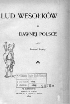 Lud wesołków w dawnej Polsce