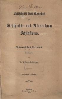 Zeitschrift des Vereins für Geschichte und Alterthum Schlesiens, 1870, Bd. 10, H. 1