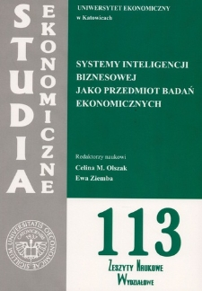 Systemy inteligencji biznesowej jako przedmiot badań ekonomicznych
