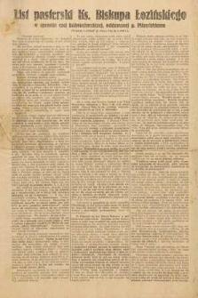 List pasterski Ks. Biskupa Łozińskiego w sprawie czci bałwochwalczej, oddawanej p. Piłsudskiemu