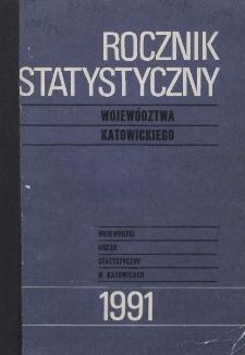 Rocznik Statystyczny Województwa Katowickiego. Rok 14 (1991)