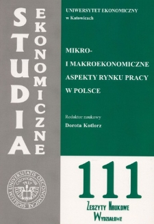 Mikro- i makroekonomiczne aspekty rynku pracy w Polsce