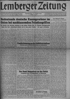 Lemberger Zeitung, Jhg. 4 1942, Folge 89