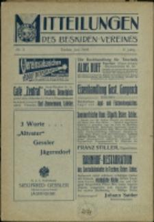 Mitteilungen des Beskidenvereins, 1908, Nry 3-4, 6