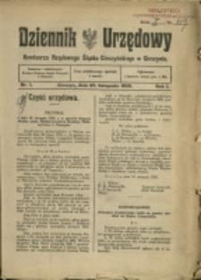 Dziennik Urzędowy Komisarza Rządowego Śląska Cieszyńskiego, 1920, Nry 1-3