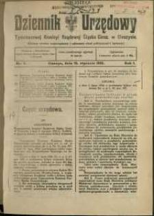 Dziennik Urzędowy Tymczasowej Komisyi Rządowej Śląska Cieszyńskiego, 1921, Nry 4-38