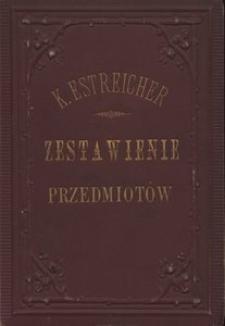 Zestawienie przedmiotów i autorów w 32 tomach Tygodnika Illlustrowanego[!], z lat 1859-1875