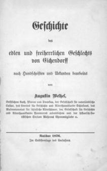 Geschichte des edlen und freiherrlichen Geschlechts von Eichendorff