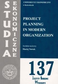 Project planning in modern organization