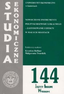 Nowoczesne instrumenty polityki rozwoju lokalnego – zastosowanie i efekty w małych miastach (cz.1)