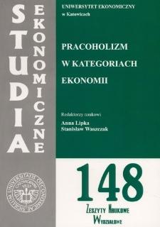 Pracoholizm w kategoriach ekonomii